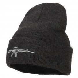 CAR-15 Rifle Embroidered Long Knitted Beanie
