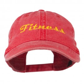 Fitness Wording Embroidered Cap - Red