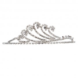 Rhinestone Wave Tiara Crown