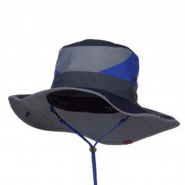 Roll Up Folded Brim Outdoor Hat - Blue