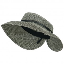 Women's UPF 50+ Tweed Buckle Roll Up Visor
