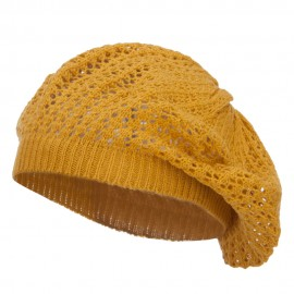Classic Solid Knit Beret