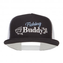 Fishing Buddy Embroidered Snapback Mesh Cap