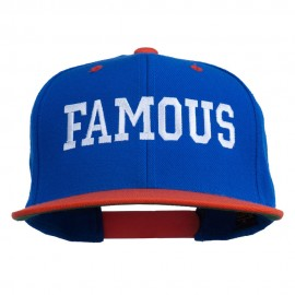 Famous Embroidered Two Tone Snapback Cap