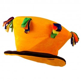Funny Velvet Top Hat - Yellow