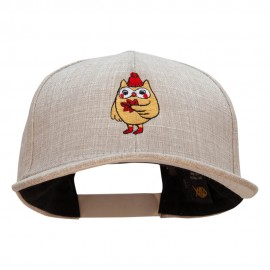 Fall Owl Embroidered Faux Jute 6 Panels Structured Snapback Cap