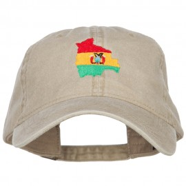 Bolivia Map Flag Embroidered Washed Cap