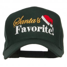 Santa's Favorite Embroidered High Profile Cap