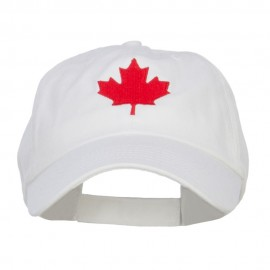 Canada Maple Leaf Embroidered Low Cap