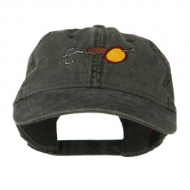 Fishing Walleye Lure Embroidered Washed Cap