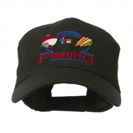 Fishing Fly and Bobber Embroidered Cap
