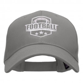 Football Embroidered Low Profile Structured PET Spun Cap
