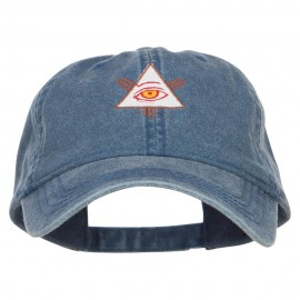 All Seeing Eye Embroidered Washed Cap