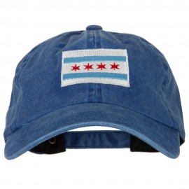 Chicago Flag Embroidered Unstructured Cotton Cap