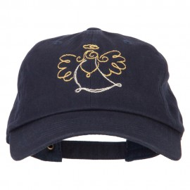 Glitter Angel Embroidered Unstructured Washed Cap