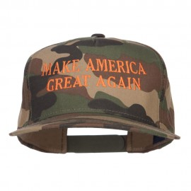Make America Great Again Embroidered Snapback - Camo