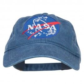 Lunar Landing NASA Patched Washed Cap - Navy