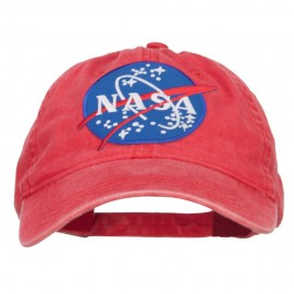 Lunar Landing NASA Patched Washed Cap - Red