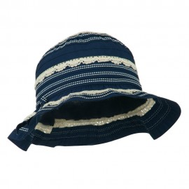 Girl's Bucket Hat with Lace Detail