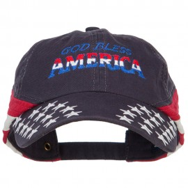 God Bless America Embroidered Star Bill USA Cap