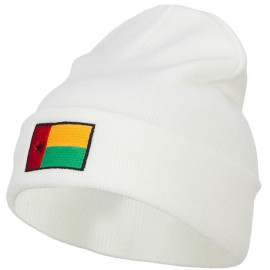 Guinea Bissau Flag Embroidered Long Beanie