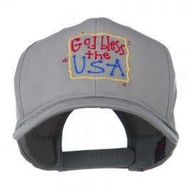 God Bless the USA Embroidered Cap