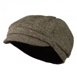 Gaby Covered Button Cabbie Cap