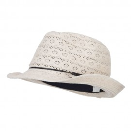 Girl's Cotton Lace Fedora