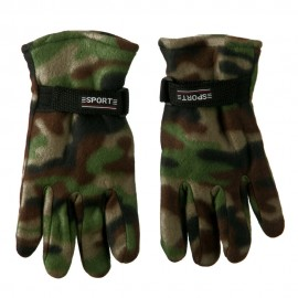 Men's Green Camo Fleece Glove