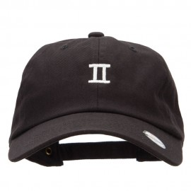 Gemini Zodiac Sign Embroidered Unstructured Cap