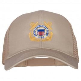 US Coast Guard Anchors Embroidered Solid Cotton Mesh Pro Cap
