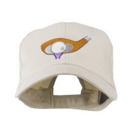 Golf Club and Ball Embroidered Cap - Stone