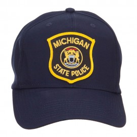 Michigan State Police Patched Cap - Navy