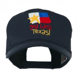 God Bless Texas Embroidered Cap