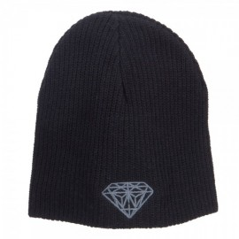 Grey Diamond Embroidered ECO Cotton XL Size Beanie