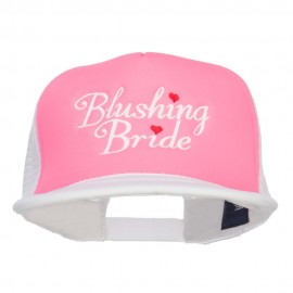 Blushing Bride Embroidered Neon Foam Trucker Cap