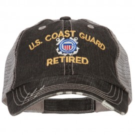 US Coast Guard Retired Embroidered Low Profile Cotton Mesh Cap