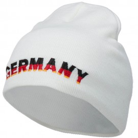 Germany Embroidered Short Beanie