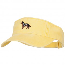 German Shepherd Embroidered Pro Style Cotton Washed Visor