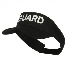 Guard Embroidered Cotton Twill Sun Visor