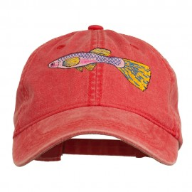 Guppy Fish Embroidered Washed Cap
