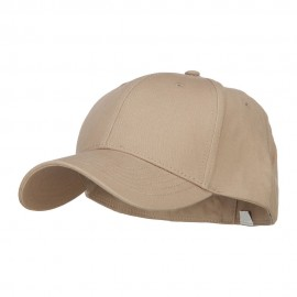 Big Size Stretchable Deluxe Fitted Cap - Khaki