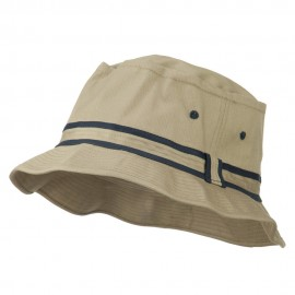 Striped Hat Band Fisherman Bucket Hat