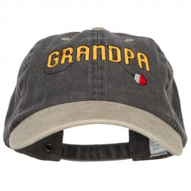Grandpa Fishing Embroidered Low Cap