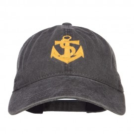 Anchor Logo Embroidered Washed Cap