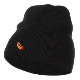 Mini Hot Dog Embroidered Short Beanie