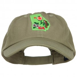 USA State Georgia Patched Low Profile Cap