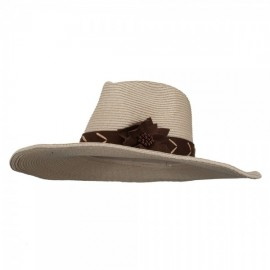 Shapeable Brim Floppy Western Hat