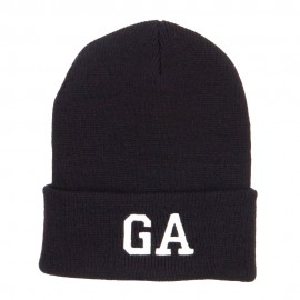 GA Georgia State Embroidered Cuff Beanie