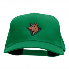 Wolf Head Embroidered Cotton Twill Pro Style Cap